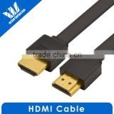 Flat 2.0V HDMI cable A male to A male with Ethernet Supports 3D & Audio Return Channel