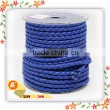 wholesale cheap 4mm pu braided leather cord for necklace