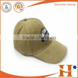 2016 China factory high quality custom khaki corduroy baseball cap curved brim custom hats