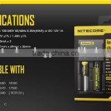 Authentic Nitecore I2 aa,aaa,CR123A,18650,26650,22650 Universal Rechargeable battery Charger