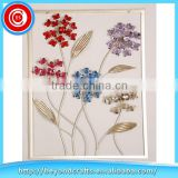 Newest Acrylic Bead Metal Flower in Frame Wall Art