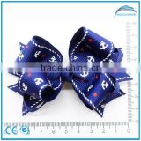 Hot Sale Kids Hair Accessories Grosgrain Ribbon Handmade Bow Hair Clip for Girls