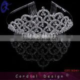 Compare Antique Wedding Accessories White Rhinestone Hair Comb Alloy Tiaras Crowns For Beautiful Bride