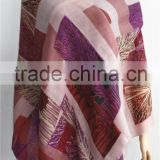 2015 New Fashion Tree Pattern Printed Wool Scarf                                                                         Quality Choice