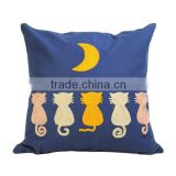 Cheap wholesale embroidery cotton canvas pillow cover