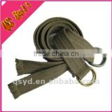 2016 braided fabric gitter military canvas belt