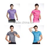 Guangzhou Wholesale Brand Compression T-Shirts Base Layers workout Tops Skin Sport Fitness Gymshark Slim Fit Tees Male Tops