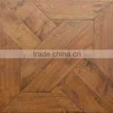 High Quality American White Oak Multilayer Parquet Engineered Wood Flooring With Manual Hand-scraped Surface
