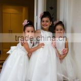 (MY2601) MARRY YOU Custom Made Pink Handmede Flower Sleeveless Floor-length White Flower Girl Dress For Wedding                                                                         Quality Choice