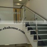EBA-Luxury glass guardrail for stairs frameless glass swimming pool guardrail aluminum handrails