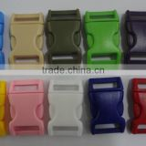 "Multi color plastic ribbon buckle quick release buckle 20mm(3/4"") webbing using.                                                                         Quality Choice"