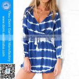 New style wholesale kaftans beachwear long sleeve lace women beach dress