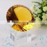 Shiny Machine Made Crystal Glass Diamond Paperweight for Home Decorations & Gifts CD-M010