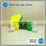 20mm wholesale manufacturer plastic round bottle screw twist top cap lids for gel water hotel amenity jam honey