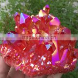beautiful red short prism with pyramid end crystal cluster