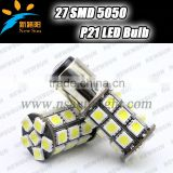 New canbus led bulb 2X 1157 P21/4W P21/5W 7528 BAY15D 27 SMD Car LED Brake Turn Light Automobile auto Wedge Lamp xenon white