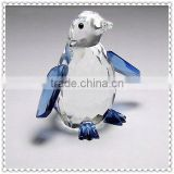 Fancy Blue Penguin Crystal Figurines For Wedding Decoration