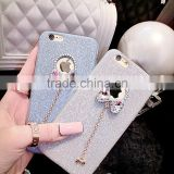 Luxury Candy Crystal Bling Glitter Powder Shine Soft Phone Cases Cover for iPhone 5 5s SE 6 6s Plus Glitter Cases