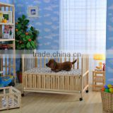 multifunction wooden baby baby swing bed approved FSC