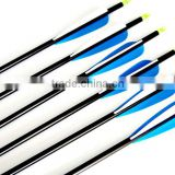 Wholesale archery aluminum arrow shafts with plastic vane for compound bow hunting