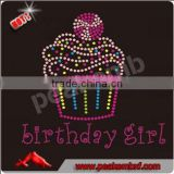 Bling Iron Transfer Rhinestone Birthday Girl Hotfix Custom Motif in Girls Clothing Sets