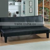 High quality china black leather futon wholesale sofabed