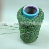 100% high quality olive green PE straight & PP curl Artificial Landscaping Grass Yarn