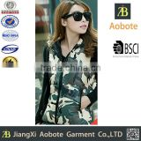2015 New Fashion Customized Casual Printed Women Cotton Vest With Hoody,Down Parka