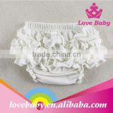 New Arrival Fashional White Baby Underwear Lovely Girl Ruffle Bloomer