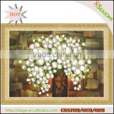 Hot Sale Silver Flower Pattern Embroidery Diamond &Rhinestone Painting DIY Kit Cross Stitch For Living Room
