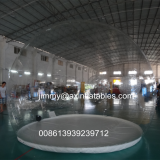 1.0mm PVC cheap price outdoor commercial grade inflatable transparent ball tent,clear inflatable trade show bubble tent