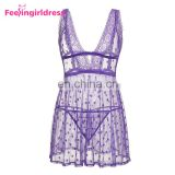 Hot Purple Thick Lace Ftv Midnight Women Sexy Lingerie Underwear