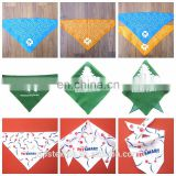Customize triangle bandana with Logo all over printing /pet bandana/ customize dog banda
