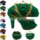 Latest lady shoes matching bag set high quality women shoes and bags D16021908