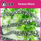 new arrival Wholesale black beaded flower trimming, clothing decorative handma laces