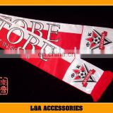 small amount football scarf by digital printing