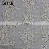 Custom ankara lace haute couture voile embroidery fabric