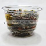 10oz clear disposable ice cream cup .shaved ice cup.smoothie cup.cup with lid, food packaging cup.logo printed cup