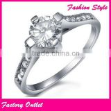 Super quality OEM micro pave crystal ring