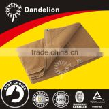 12x20ft heavy duty waterproof fire retardant durable with grommet Tan cotton polyester canvas tarp for trailer cover