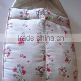 cotton print embroidery quilted baby sleeping bag