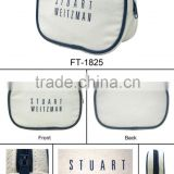 New fashion hot sale items best Toiletry Travel Wash bag high quality canvas white colour