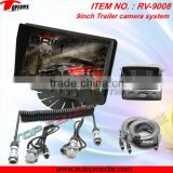RV-9008V Car rearview camera system with trailer cable, 9inch digital LCD monitor, HD CCD camera