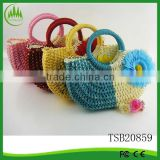Hot New Products 2015 Fashion Women Straw Tote Bag Beach Mat Tote Bag