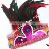 Wholesale Feather Headdress Indian With Rooster Feather Party Supplies