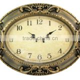 Antique Style Wall Decoration Time Clock with Royal Design Frame/ Clock Hands Time Display