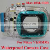 40M/130ft Waterproof Underwater Case, Waterproof Camera Case for Nikon V1(10mm Lens), Waterproof Digital Camera Pouch Case