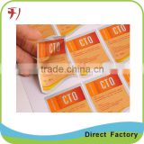 custom self adhesive label with top quality and cheap price