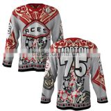 Team ice hockey jerseys customized printing/Digital sublimation printing ice hockey jerseys
