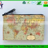 Coin Purse Vintage World Map Little Zipper Pouch canvas bag                                                                                                         Supplier's Choice